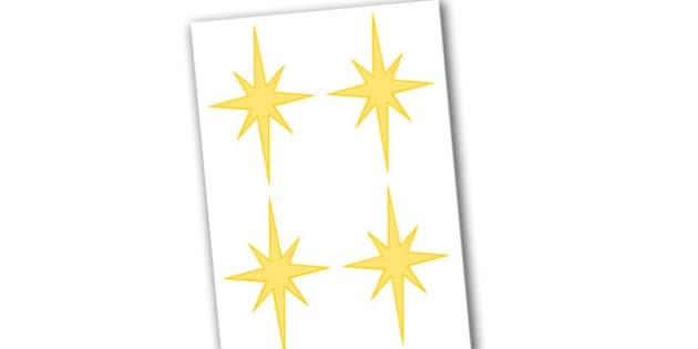 Editable Stars - Christmas, xmas, star, editable, tree, advent, nativity, santa, father christmas, Jesus, tree, stocking, present, activity, cracker, angel, snowman, advent , bauble