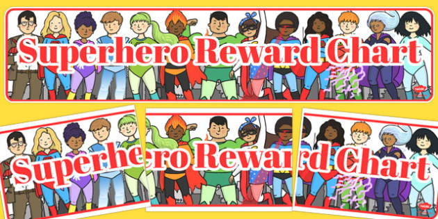 Superhero Reward Display Banner - superhero, reward, display banner