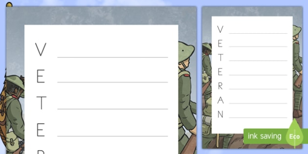 Veterans Day Acrostic Poem