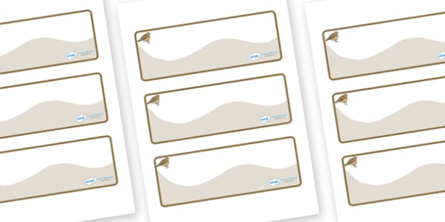 Lark Themed Editable Drawer-Peg-Name Labels (Colourful) - Themed Classroom Label Templates, Resource Labels, Name Labels, Editable Labels, Drawer Labels, Coat Peg Labels, Peg Label, KS1 Labels, Foundation Labels, Foundation Stage Labels, Teaching Lab