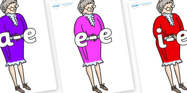 Modifying E Letters on Mrs Phelps to Support Teaching on Matilda - Modifying E, letters, modify, Phase 5, Phase five, alternative spellings for phonemes, DfES letters and Sounds