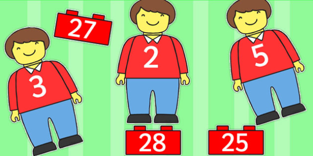 Toy Man Number Bonds Matching Activity to 30 - number bonds