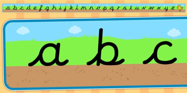 Ground Grass Sky Alphabet Strip - ground, grass, sky, alphabet