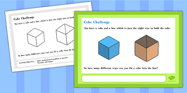 Cube Maths Challenge A4 Display Posters - challenge, posters