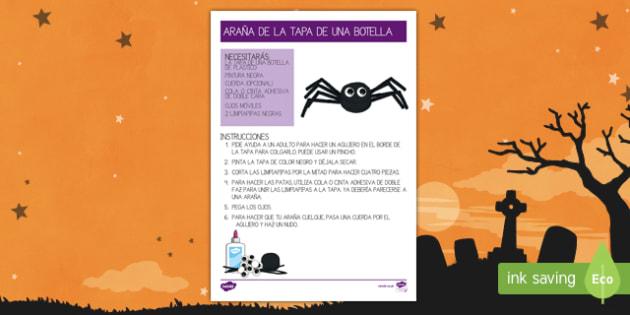 Hacer una araña de Halloween Manualidad-Spanish