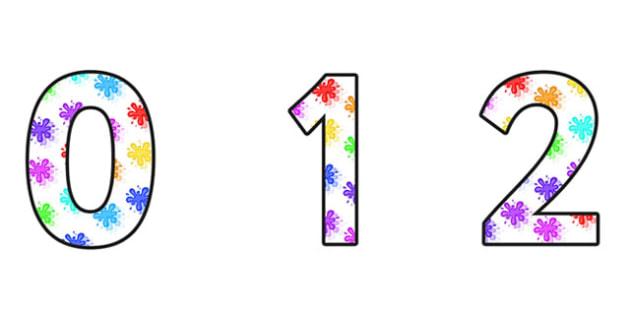 Variation Small Display Numbers - variation, variation numbers, varaiation themed numbers, variation display, variation maths, maths display, ks2 maths