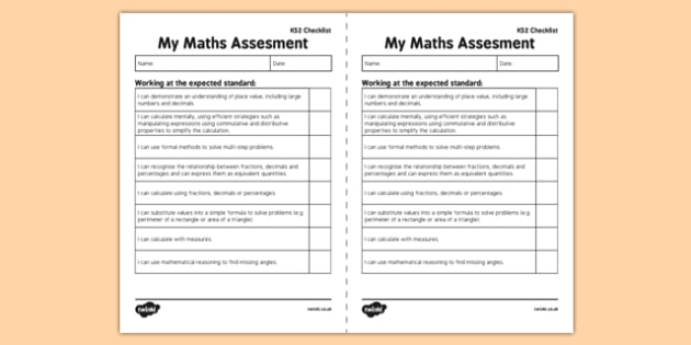 KS2 Maths Exemplification -  I Can Statements Checklist