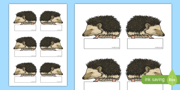 Hedgehog Editable Self Registration - hedgehog, editable, self-registration