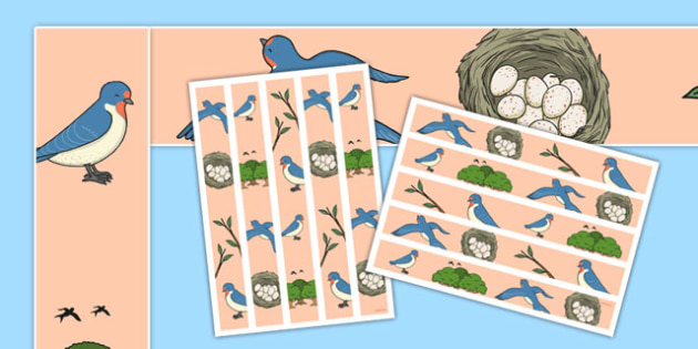Swallow Display Borders - class, set-up, room name, birds, swallow, animals, ks1, ks2, display,