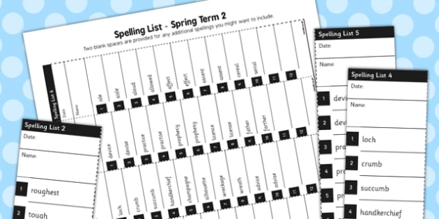 Home Educators Spelling Lists Year 6 Spring 2 - home, educators, spelling, lists