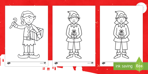 Elf Clothes Colouring Page - Christmas, elves, elf, colouring, Santa