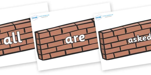 Tricky Words on Wall - Tricky words, DfES Letters and Sounds, Letters and sounds, display, words