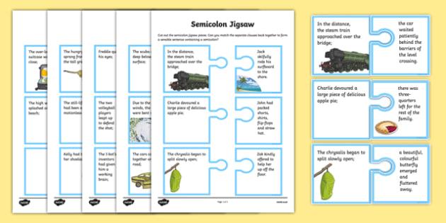 Semicolon Jigsaw Game