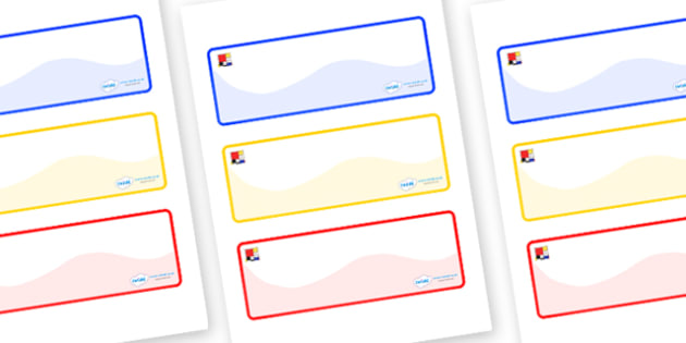 Mondrian Themed Editable Drawer-Peg-Name Labels (Colourful) - Themed Classroom Label Templates, Resource Labels, Name Labels, Editable Labels, Drawer Labels, Coat Peg Labels, Peg Label, KS1 Labels, Foundation Labels, Foundation Stage Labels, Teaching