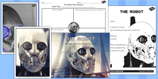The Robot Writing Poetry Inspired by Film Lesson Teaching Pack