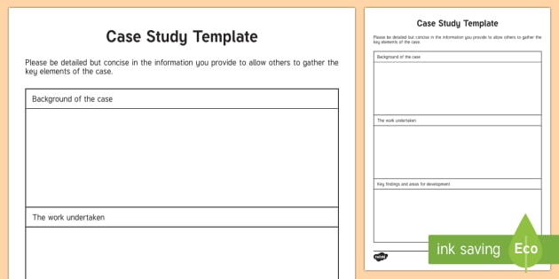 Case study template young people families case file for Template for writing a case study