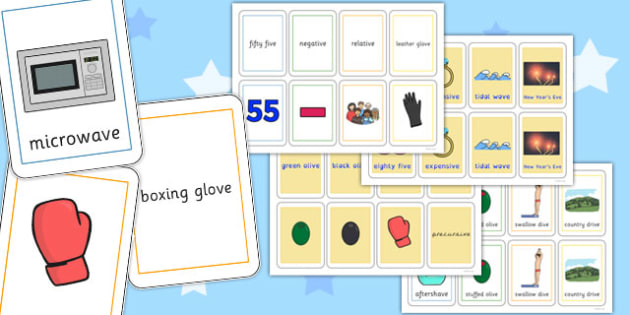 Three Syllable Final 'V' Sound Playing Cards - final v, sound, playing