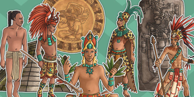 Mayan Civilisation Large Display Cut Out Pack - display, cut out