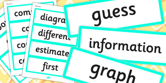Year 1 2014 Curriculum Measurement Vocabulary Cards - measure