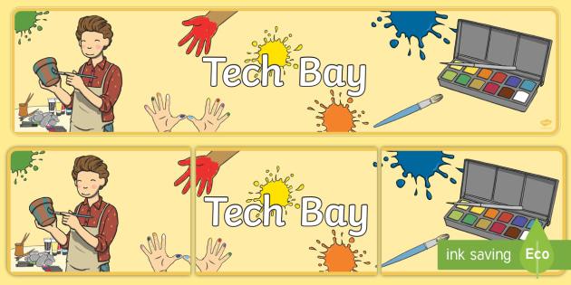 Tech Bay Display Banner - EYFS UAE General Resources