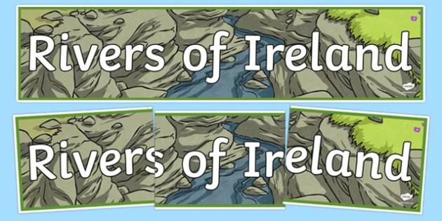 Rivers of Ireland Display Banner-Irish