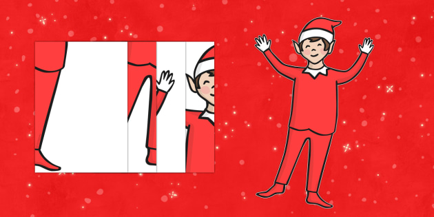 A2 Cut-Out Elf - a2, elf, display, poster, christmas, elves, cut out