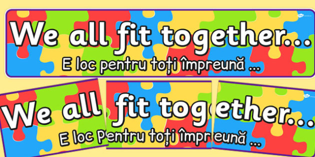 We All Fit Together Display Banner Romanian Translation - romanian