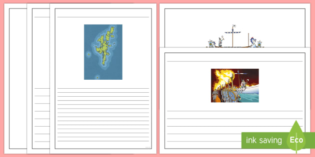 Up Helly Aa Writing Frames - CfE, calendar events, Scotland, Scottish, traditions, history, celebrations, Vikings, Shetland, Lerw
