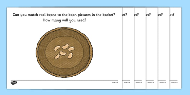 Baskets of Beans Fine Motor Game - EYFS, Early Years, fine motor, beans, beanstalk, plants, growth