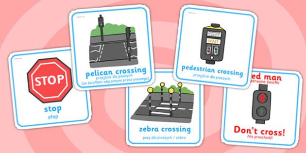 Road Safety Cards Polish Translation - polish, road safety, cards, road, safety