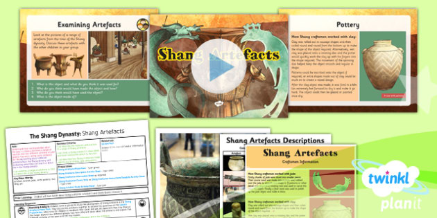 PlanIt - History UKS2 - The Shang Dynasty Lesson 5: Shang Artefacts Lesson Pack - jade, bronze, zun, ding, jue