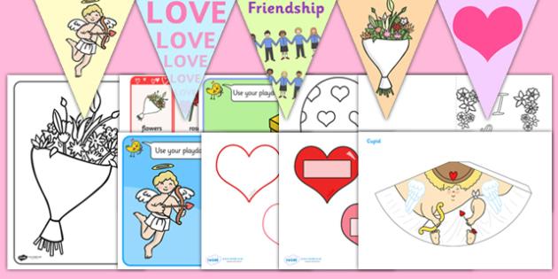 Childminder Valentine's Day Resource Pack - valentines day, pack