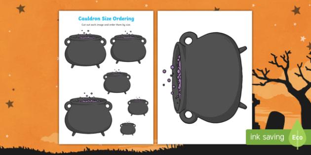 Cauldron Size Ordering