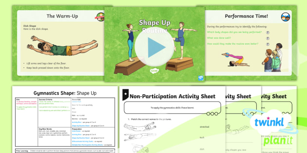 PE: Gymnastics: Shape: Shape Up Year 3 Lesson Pack 6