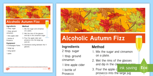 Elderly Care  Autumn Recipe - Autumn, Seasons, Display, September, October, November, Leaves, Harvest, Activity Co-ordinators, Sup