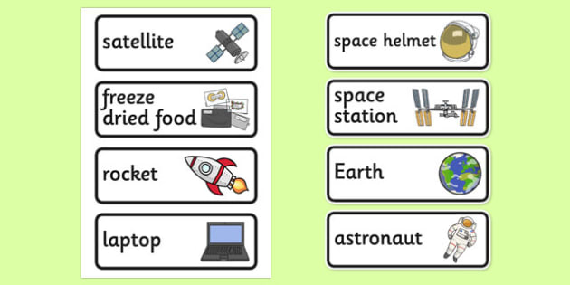 Space Station Role Play Labels-space station, role play, labels, role play labels, space station role play, space station labels, display