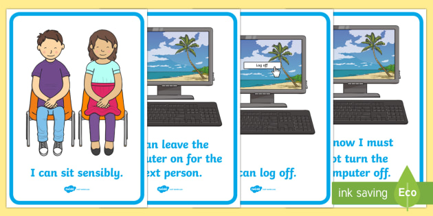 ICT Area Rules Posters - ICT Area, rules, classroom Area Signs, KS1, ICT, Banner, Foundation Stage Area Signs, Classroom labels, Area labels, Area Signs, Classroom Areas, Poster, Display, Areas, Computer Area, ICT Area