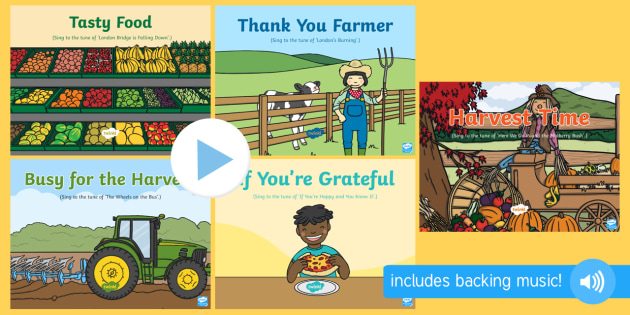 Harvest Songs and Rhymes PowerPoints Pack