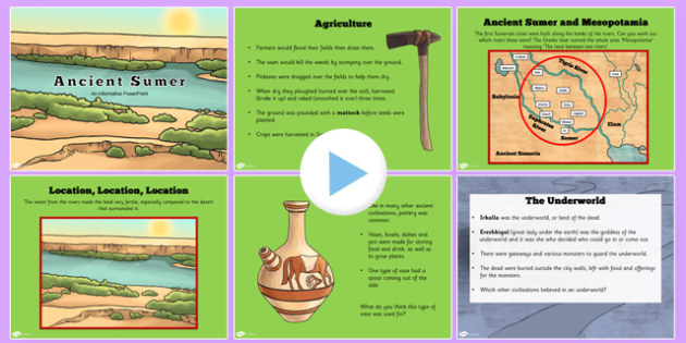 Introduction to Ancient Sumer PowerPoint - history, KS2 history