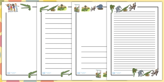 Page Borders to Support Teaching on The Enormous Crocodile - The enormous crocodile, the enormous crocodile page borders, roald dahl page borders, roald dahl