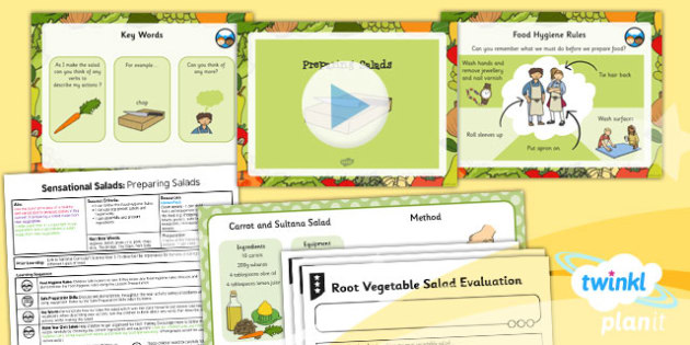 D&T: Sensational Salads: Preparing Salads KS1 Lesson Pack 3
