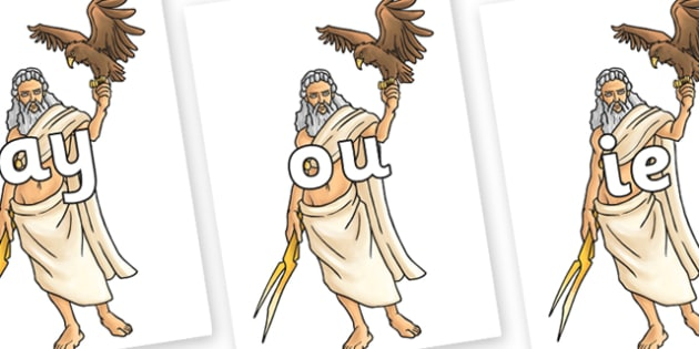Phase 5 Phonemes on Zeus - Phonemes, phoneme, Phase 5, Phase five, Foundation, Literacy, Letters and Sounds, DfES, display