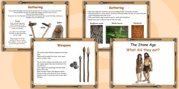 Stone Age Food Lesson Flipchart - stone age, food, history, game