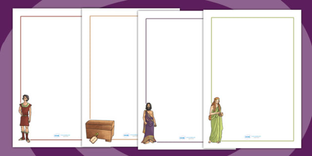 page borders box ancient greek myth page borders ancient greece