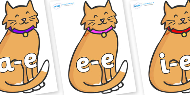 Modifying E Letters on Pussy Cats - Modifying E, letters, modify, Phase 5, Phase five, alternative spellings for phonemes, DfES letters and Sounds