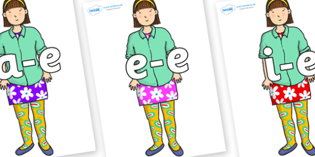 Modifying E Letters on Sam to Support Teaching on Harry and the Bucketful of Dinosaurs - Modifying E, letters, modify, Phase 5, Phase five, alternative spellings for phonemes, DfES letters and Sounds