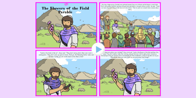 The Flowers of the Field Parable PowerPoint - parable, flowers