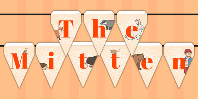 The Mitten Bunting - the mitten, bunting, display, display bunting