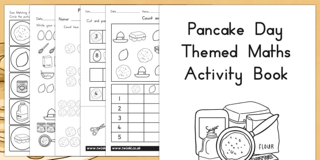Pancake Day Themed Maths Activity Book - australia, pancake