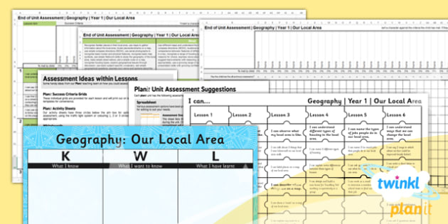 Geography: Our Local Area KS1 Unit Assessment Pack